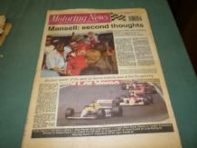 MOTORING NEWS 1990 August 8 Hakkinen wins F3 ,BTCC, CART, Rallycross,DTM